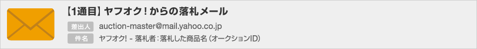 【1通目】ヤフオク!からの落札メール